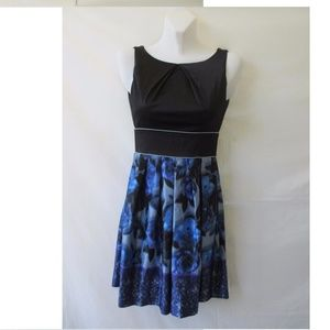TEEZE  ME DRESS 3 XS BLACK SLEEVELESS BLUE WOMAN